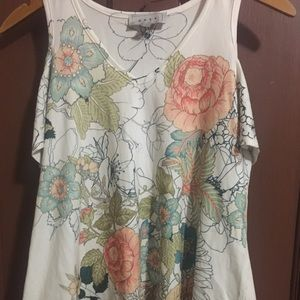 Gaze floral cold shoulder shirt